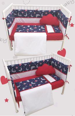 posteljina- teget/crveno