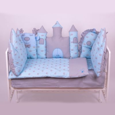 posteljina ogradica dvorac plava