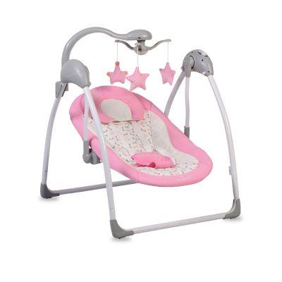ljuljaška jessi za bebe-roza