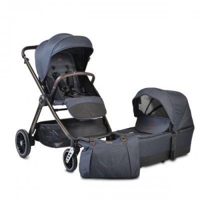 kolica za bebe macan teget 3u1+auto sjediste
